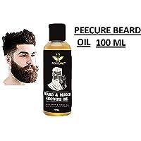 PEECURE Mooch & Beard Growth Oil for Men (100 ML)