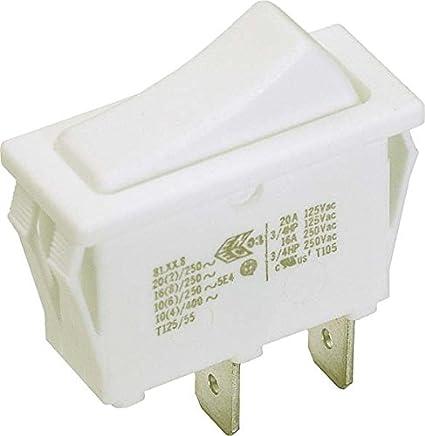 15A 250VAC 30.5*10.6*21mm Wippe beleuchtet Einbau Wippschalter weiß