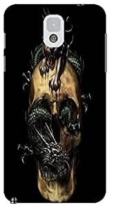 Fantastic Faye Cell Phone Cases For Samsung Galaxy Note 3 No.9 The Special Design With Skull Heads
