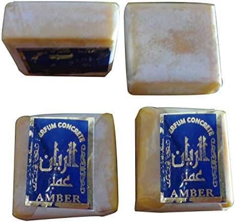 4 Amber Jamid Natural Fragrance Solid Musk Original Islamic Perfume Non Alcohol Arabian Arab Cube Halal