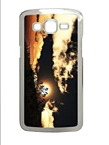 awesome cover hill grass sunset PC Transparent case/cover for Samsung Galaxy Grand 2/7106