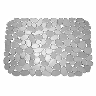InterDesign Pebblz Kitchen Sink Protector Mat, Large, Graphite