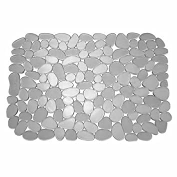 Amazoncom Interdesign Pebblz Sink Protector Mat Stainless Steel