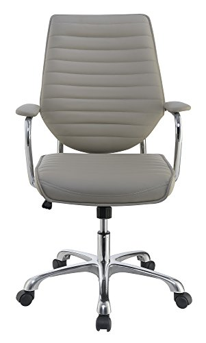 Scott Living Contemporary Taupe High-Back Office Chair