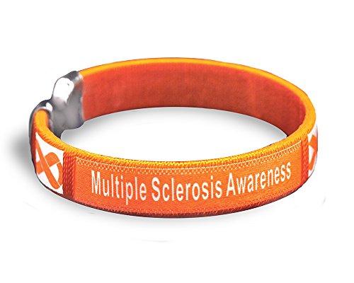 Multiple Sclerosis Awareness Bangle Bracelet - Adult Size (25 Bracelets in a Bag)