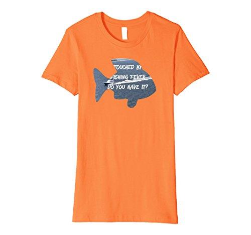 Womens Women Fishing Fever T Shirt   Medium Orange