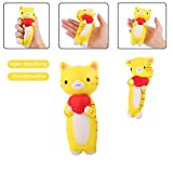 Vigeiya Yellow Cat Kawaii Squishies Slow Rising Soft Scented Toys Squishy Kids Adult Gift