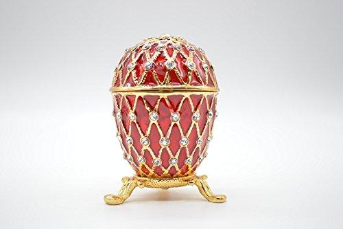Unique Rhninestone Faberge egg wedding Desktop Ornaments for sale  Delivered anywhere in USA