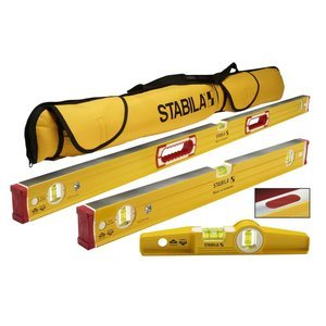 Stabila 96M Magnetic Level Set Kit - 48''/24'' Torpedo and Case by Stabila