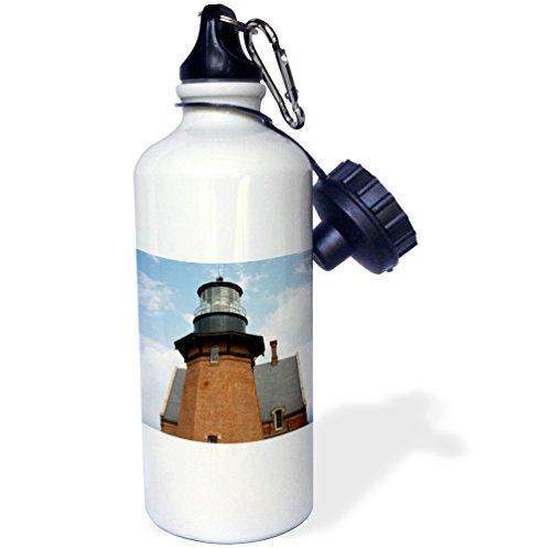3dRose USA, Rhode, Block Island, Mohegan Bluffs, Southeast Lighthouse. -Sports Water Bottle, 21oz (wb_190226_1), 21 oz, Multicolor ()