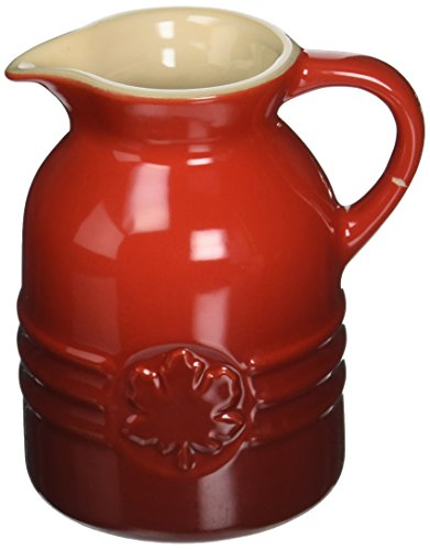 Le Creuset Stoneware 6-Ounce Syrup Jar, Cerise (Cherry Red) 6 Ounce Syrup Dispenser