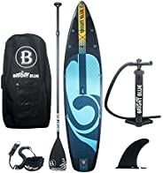 """BRIGHT BLUE 11'6"""" Inflatable Stand Up Paddle Board (6"""" Thick) with Pum"""