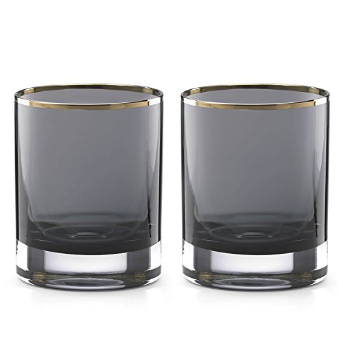 Kate Spade New York South Street Double Old Fashioned Bar Drinking Glasses, Set of 2