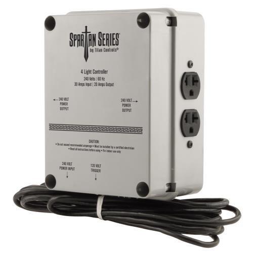 Sunlight Supply Titan Controls 4-Light Controller, 240V - Spartan Series Ssa Controller