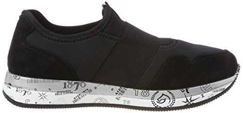 Pantofola Remonte Ladies D2504 Nera (nero / Nero / Argento Antico)