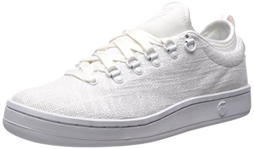 K-Swiss Women's Classic 88 Sport T Fashion Sneaker, White/White/Crystal Pink, 8 M US