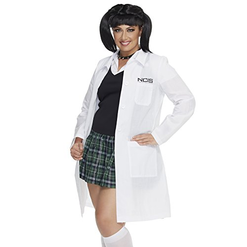 Mystery House Women's Plus-Size NCIS Abby's Lab Coat and Chocker, White, 3X