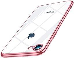 iPhone 12 mini 用 ケース クリア 5.4インチ 耐衝撃 TPU メッキ加工 透明 ソフトシェル Qi充電対応 おしゃれ かわいい 軽量 スリム 薄型 一体型 人気 防塵 耐衝撃カバー 高級感 ブルー