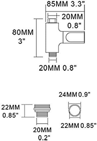 水温計、LEDデジタルシャワー温度モニター、角度調整可能