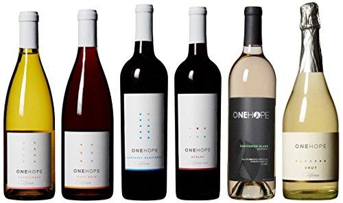 ONEHOPE Best of California III Wine Mixed Pack, Includes California Cabernet Sauvignon, Merlot, Sauvignon Blanc, Brut Champagne, Chardonnay, Pinot Noir, 6 x 750 mL