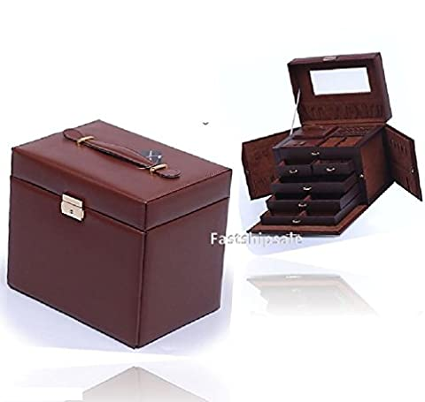 Jewelry Box Storage Display Organizer Case Ring Earring Necklace Leather Travel - Thermos Bbq Grills