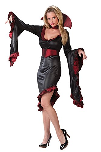 Vampiress Ruffle W Collar X-Large (Ruffle Vampiress Costumes)
