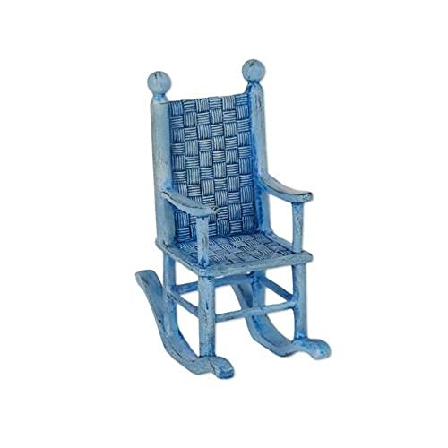 Mary Engelbreit Chair (Studio M Merriment Mary Engelbreit Fairy Garden - Mini Blue Rocking)