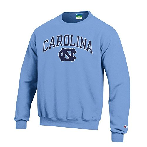 Elite Fan Shop North Carolina Tar Heels Crewneck Sweatshirt Varsity Blue - L