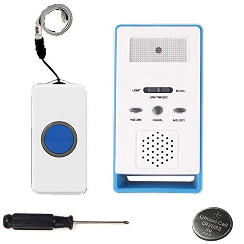 (LEAGY Wireless Paging System Remote Call Button Nurse Call System Caregiver Pager, Home Alarm & Calling Device Disabled & Waking up Device & Calling Device Elderly& Care Device Pregnant Women)