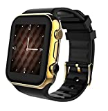 Scinex SW20 Smart Watch for Android and iPhone with 16GB Memory, Pedometer Smartwatch for Men & Women, Sleep Monitor watch, Compatible with Cell phone, Warranty included (Gold/Black)