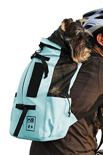 K9 Sport Sack | Dog Carrier Backpack for Small and Medium Pets | Front Facing Adjustable Pack with Storage Bag | Fully Ventilated | Veterinarian Approved (Small, Air - Summer Mint)