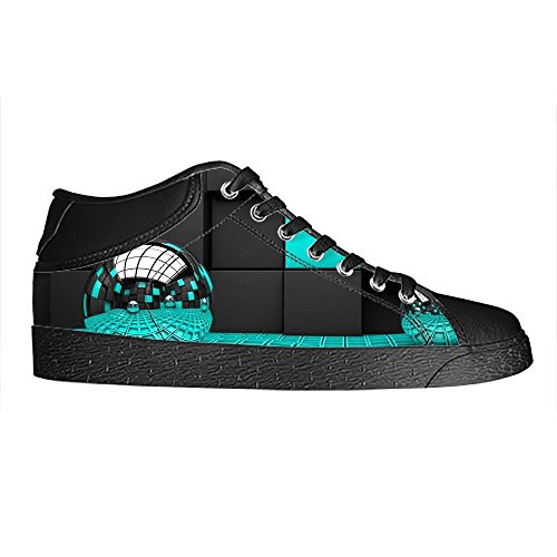 Custom 3D Format Mens Canvas Shoes Schuhe Lace-Up High-Top Sneakers Segeltuchschuhe Leinwand-Schuh-Turnschuhe C