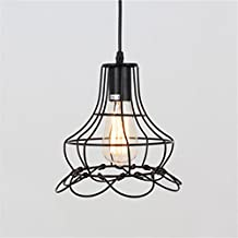Vintage Industrial Cage Ceiling Lights Chandelier Lamp Pendent Light Kitchen Bar Decor