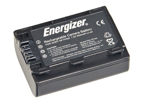 Energizer ENV-SFH50 Digital Replacement Video Battery for Sony NP-FH50 (Black) by Energizer