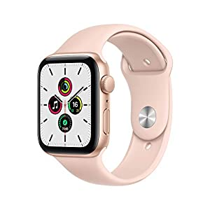 New Apple Watch SE (GPS, 44mm) – Gold Aluminium Case with Pink Sand Sport Band
