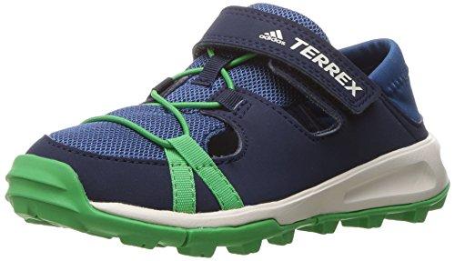 Cola Footwear (adidas outdoor Terrex Tivid Shandal CF Water Shoe Sandal, Core Blue/Col. Navy/Energy Green, 3.5 M US Big Kid)