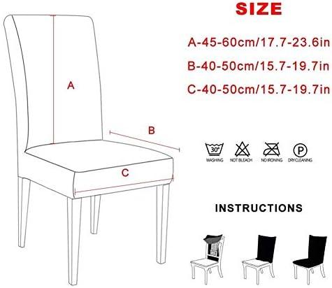 1/2/4 / 6pcs Chaise De Couleur Solide Couverture Spandex Extensible Élastique Slipcovers Housses De Chaise For Cuisine Salle À Manger Banquet De Mariage Hôtel Durable