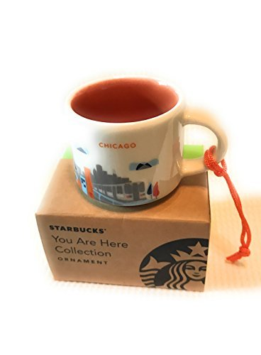 Starbucks City Mug CHICAGO You Are Here Demi Ornament - 2 ounce collectible