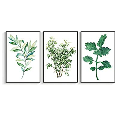 Magnificent Expert Craftsmanship, Made For You, Framed for Living Room Bedroom Beautiful Leaves for x3 Panels