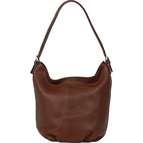 Hadaki Bombay Leather Collection Slouchy Hobo Shoulder Bag,Cognac,One (Leather Print Hobo Bag)
