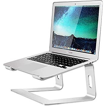 Soundance Laptop Stand for Desk Compatible with Mac MacBook Pro Air Notebook, Portable Holder Ergonomic Elevator Metal Riser for 10 to 15.6 inch PC Desktop Computer, LS1 Aluminum Silver
