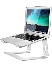 "Aluminum Laptop Stand for Desk Compatible with Mac MacBook Pro/Air Apple 12"" 13"" Notebook, Portable Holder Ergonomic Elevator Metal Riser for 10 to 15.6 inch PC Desktop Computer, Soundance LS1 Silver"