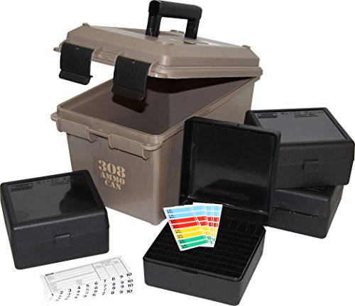MTM ACC308 308-Caliber Ammo Can with 4 RM-100 Boxes, Dark Earth