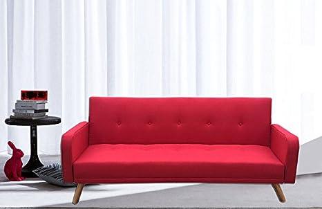Gstore - Sofá Cama reclinable de Lujo, Microfibra, Patas de ...