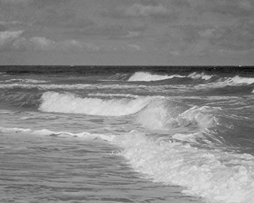 Ocean Waves, Surfing Wall Art, Black and White Beach Photography, Ocean Art Print, Nautical Decor Picture, Coastal Wall Art, Stormy Sea Picture 5x7, 8x10, 11x14, 12x16