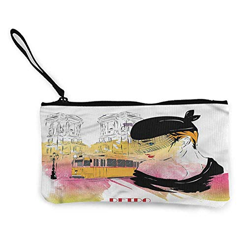 - Pencil Bag Girls,Retro Lady Sketch Art W8.5