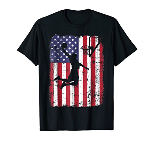 USA American Flag Basketball T-Shirt