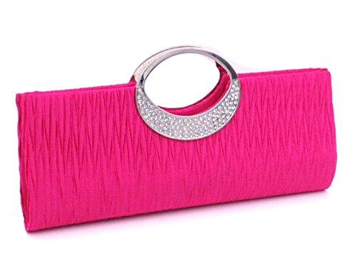 Portefeuille Different party a choisir Sac couleur Mariage avec Strass pour Femmes Cloud Soiree Rose Ceremonies de Pochette Plise Y Main Bwf181