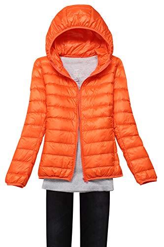 Taille À Blouson S Chaud Femme Doudoune Capuche Manteau 3xl Grande Babyonlinedress Orange Rembourré Légère D'hiver UqP8L