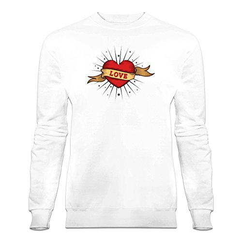 Shirtcity Love Old School Tattoo Sweatshirt M White